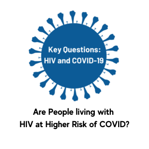 Are people living with AIDS at higher risk of COVID
